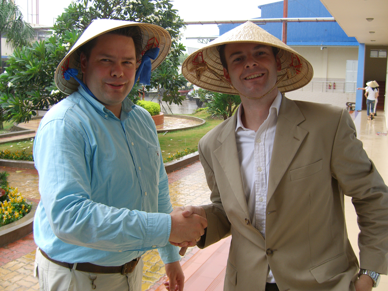 Nederlandse pangasiushandelaar in Vietnam