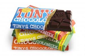 De chocoladerepen van Tony's Chocolonely.  ©Tony's Chocolonely