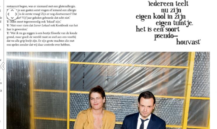 Volkskrant Magazine, 28 november 2015, Teun van de Keuken met Yvette van Boven.