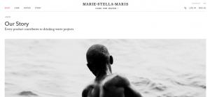 De website van 'Amsterdam-based lifestyle brand' Marie-Stella-Maris.