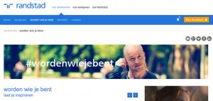 #wordenwiejebent op de website van Randstad.