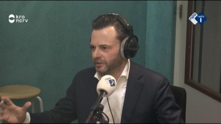 Teun van de Keuken in het radioprogramma De Ochtend op Radio1 op 11 maart 2016.