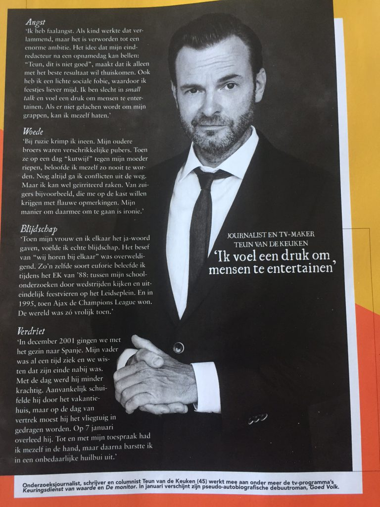 Teun van de Keuken in Psychologie Magazine, januari 2017