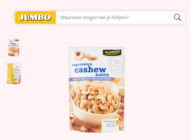 Jumbo cashewnoten 100% gezellig