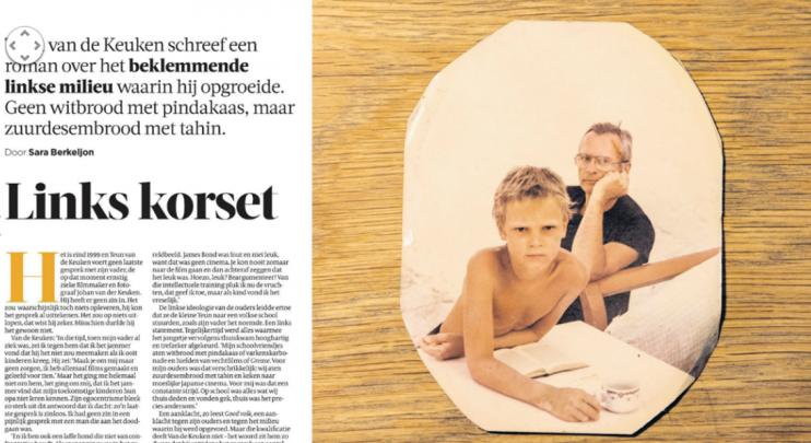 Links Korset, interview Teun van de Keuken door Sara Berkeljon in de Volkskrant