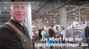 """""""Meesterslager Jos"""". Still uit een reclamefilmpje van Albert Heijn."""