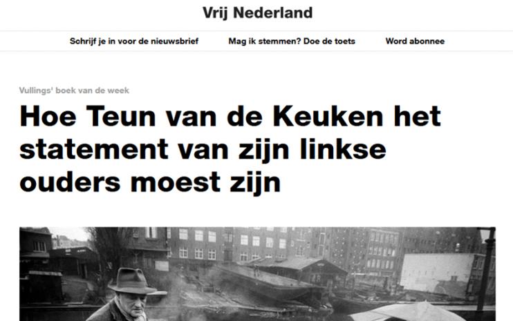 Vrij Nederland recensie Goed Volk