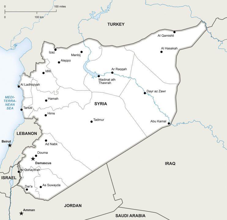 Landkaart Syrië