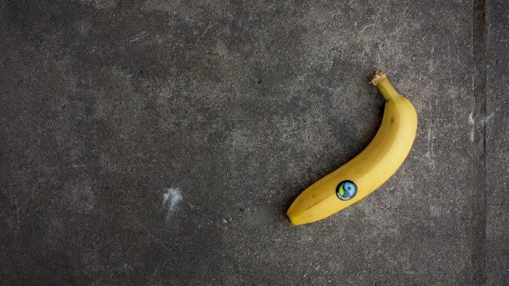 banaan met logo fairtrade
