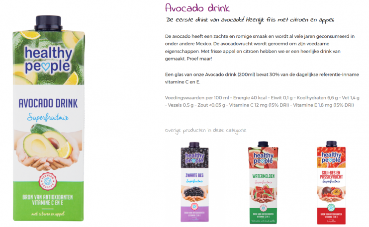 Healthy People Avacado Drink