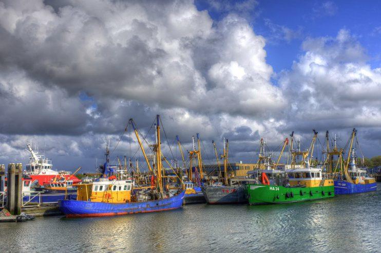 vissersboten Lauwersoog