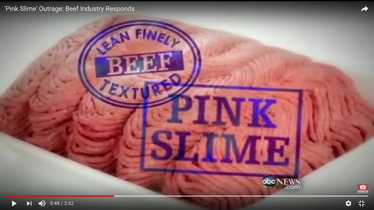 Still uit uitzending van ABC News over Pink Slime