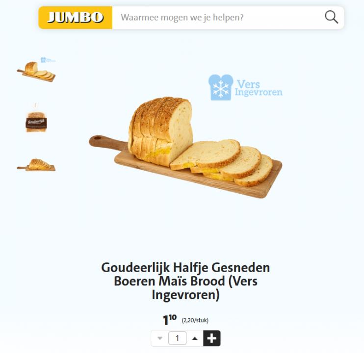 Goudeerlijk Maisbrood Jumbo