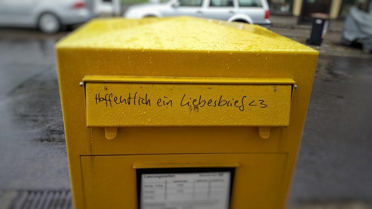 brievenbus liefdesbrief