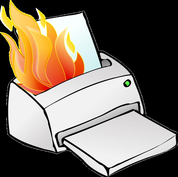 printer vuur