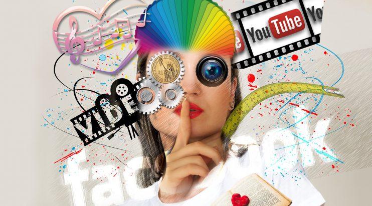 sociale media vrouw