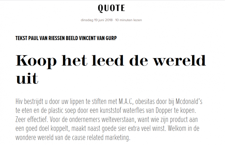 Quote Cause Related Marketing Teun van de Keuken
