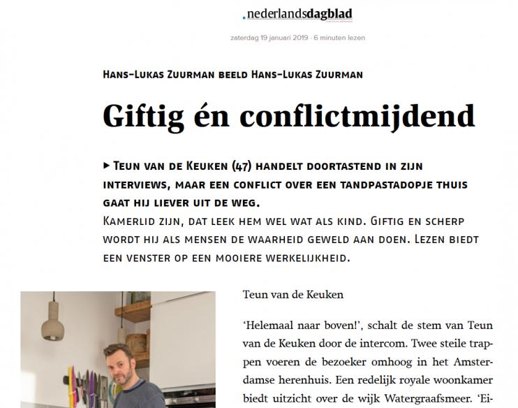 Nederlands Dagblad Teun van de Keuken Hans-Lukus Zuurman