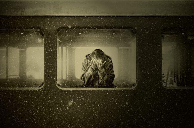 trein vrouw