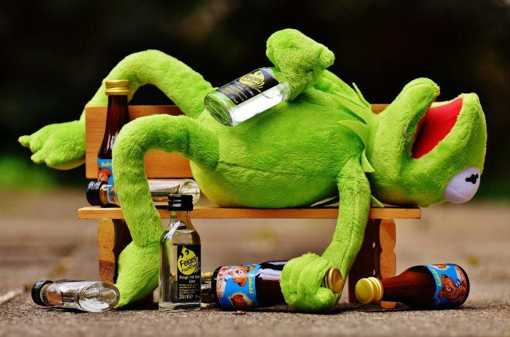 reclame voor alcohol kater kermit