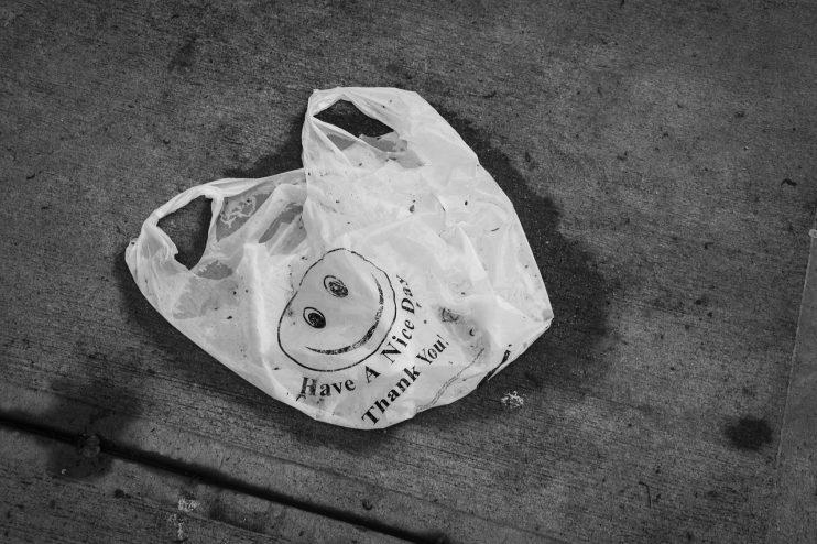 plastic tasje afval