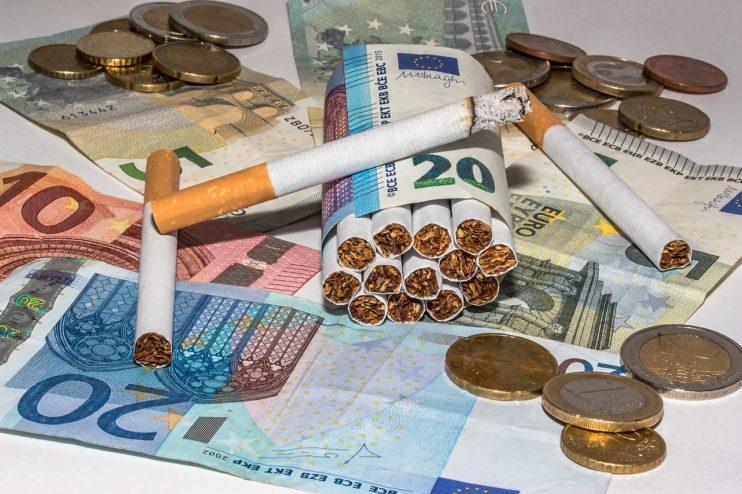 sigarettenverkoop omzet