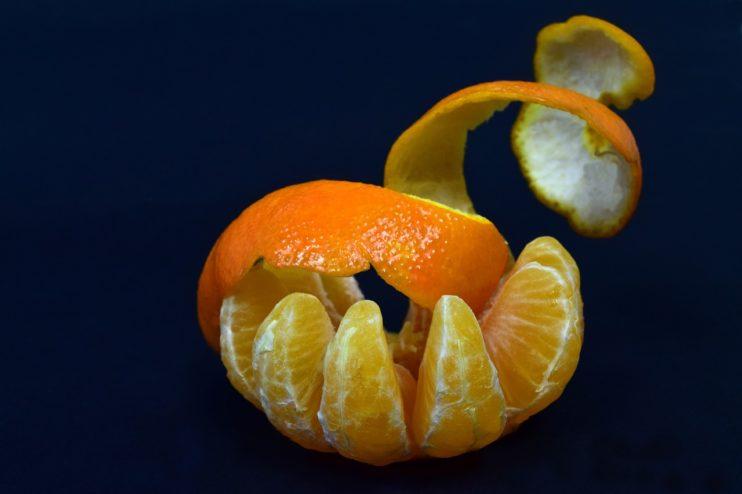 Flexibele schil mandarijn