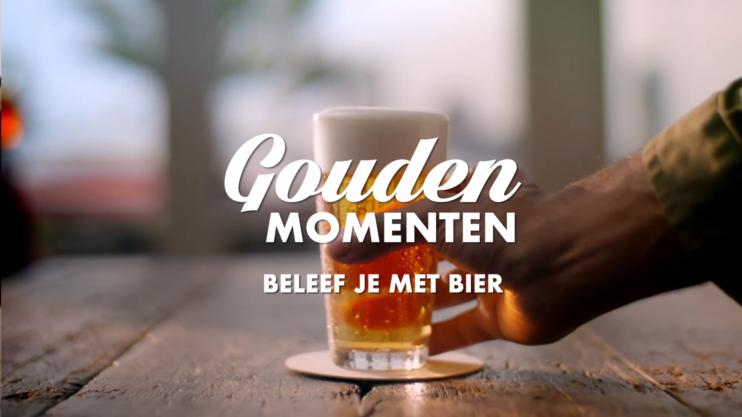 Still reclamespotje 'Gouden momenten beleef je met bier'