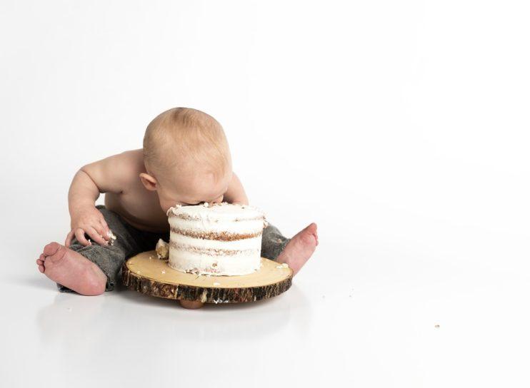 baby kind taart suiker