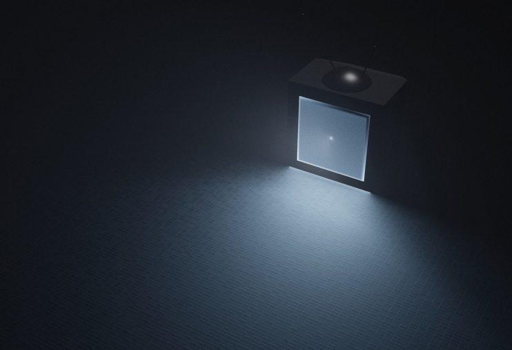 televisie donker