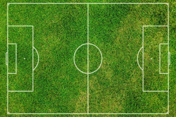 voetbal veld gras