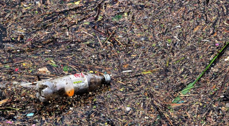plastic afval water coca cola light flesje