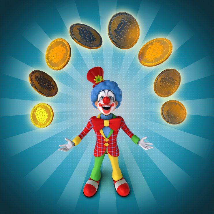 geld clown rijk lachen